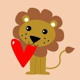 śliczny lew Fotografia Royalty Free