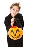 Śliczny Little Boy na Halloween zdjęcie stock