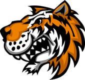śliczny loga maskotki tygrys Zdjęcia Stock