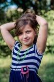 Śliczny małej dziewczynki lata portret Obraz Royalty Free