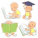Śliczny mały dziecko uczenie ilustracji
