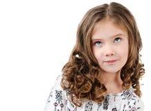 Śliczny marzy małej dziewczynki przyglądający up Obrazy Royalty Free