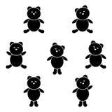 Śliczny niedźwiadkowy ikona set Zdjęcie Stock