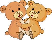 Śliczny niedźwiadkowy uścisk each inny Zdjęcie Royalty Free