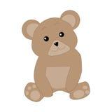 Śliczny niedźwiedź jest siedzący i patrzejący naprzód Zdjęcie Royalty Free