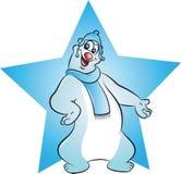 Śliczny niedźwiedź polarny ilustracja wektor