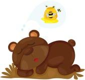 Śliczny niedźwiedzia marzyć Zdjęcia Stock