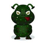 Śliczny okropny potwór ilustracji