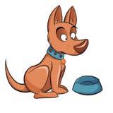 Śliczny pies pyta jeść ilustracji