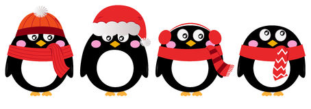 Śliczny pingwinu set Obrazy Stock