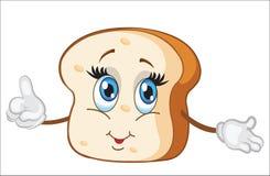 Śliczny plasterek chleba charakteru wektoru ilustracja ilustracji