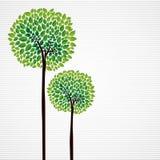 Śliczny pojęć drzew projekt Obraz Stock