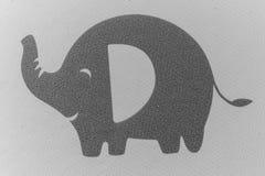Śliczny Popielaty słoń na tkaninie Zdjęcia Royalty Free