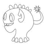 Śliczny potwora kontur dla barwić ilustracja wektor