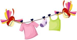 śliczny ptaka clothesline Obraz Royalty Free