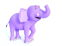 Śliczny różowy Toon dziecka słonia ono uśmiecha się Zdjęcie Royalty Free
