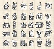 śliczny remisu ręki dom Ilustracji