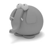 śliczny słoń Obrazy Royalty Free