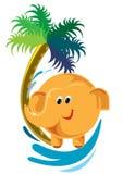 Śliczny słoń - Wektorowa kartoteka EPS10 ilustracja wektor