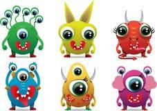 Śliczny słodki potwora koloru charakter, śmieszny projekta element Obraz Stock