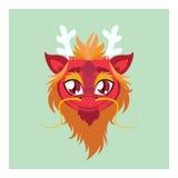 Śliczny smoka avatar z płaskimi kolorami Fotografia Stock