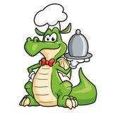 ?liczny smoka szef kuchni fotografia royalty free