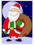 Śliczny stary dziad costumed Santa Claus royalty ilustracja