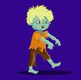 Śliczny szczęśliwy żywy trup chłopiec blondyn ilustracji