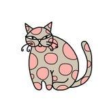Śliczny sztuka kot dla twój projekta Obrazy Royalty Free