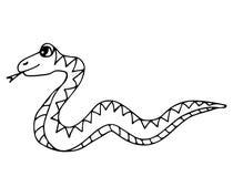 Śliczny wąż odizolowywający na białym tle ilustracja wektor