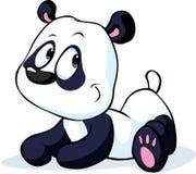 Śliczny wektorowy Chiński panda niedźwiedź odizolowywający na bielu Obraz Royalty Free