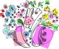 Śliczny Wielkanocny królik z jajkiem Fotografia Royalty Free