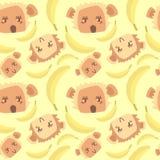 Śliczny wzór z małpami Fotografia Stock