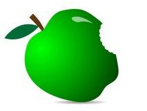 Śliczny Zielony świeży jabłko Ilustracja jabłczana ikona Obraz Royalty Free
