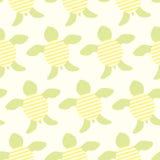 Śliczny zielonych żółwi bezszwowy wektorowy tło Zdjęcia Royalty Free