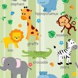 Śliczny zwierzę wzór Fotografia Stock