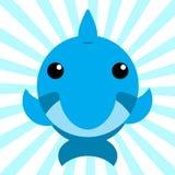 Śliczny Zwierzęcy dziecko delfin royalty ilustracja