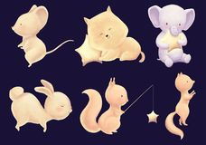 Śliczny zwierzęcy dziecko druk ilustracji