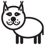 Śliczny zwierzęcy ryś - ilustracja Obrazy Stock