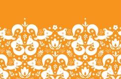 Ślicznych geometrical lisów horyzontalny rabatowy bezszwowy ilustracji