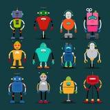 Ślicznych robot ikon duży set Obraz Stock