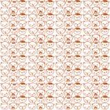 Ślicznych wektorowych kotów bezszwowy wzór Obraz Royalty Free