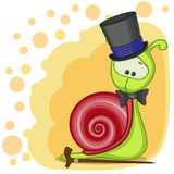 Ślimaczek w kapeluszu royalty ilustracja