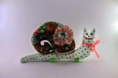 Ślimaczek zabawka na białym tle Fotografia Royalty Free