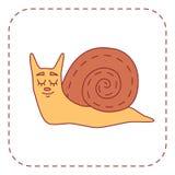 Ślimaczka postać z kreskówki Zdjęcia Stock