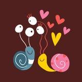 Ślimaczki W Miłości Obraz Royalty Free