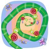 Ślimaczki z motylami royalty ilustracja