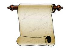 Ślimacznica papier z poszarpanymi krawędziami odizolowywać na bielu ilustracji