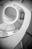 Ślimakowaci schodki, czarny i biały zdjęcia royalty free