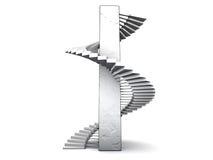 ślimakowaci schody. ilustracji